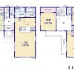 新潟市東区幸栄の新築住宅の間取図