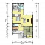 新発田市西園町1丁目の土地の建物プラン例(1階間取図)
