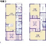 新潟市江南区横越川根の新築住宅【1号棟】の間取り図