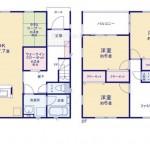 新潟市中央区小張木の新築住宅の間取り図
