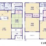 新潟市東区船江町の新築住宅の間取り図