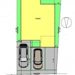 新発田市西園町1丁目の土地の建物プラン例(敷地図)
