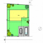 新潟市東区中山の土地の写真の建物プラン配置図