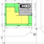新潟市東区東中野山土地の建物プラン例2の配置図