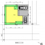 新潟市東区東中野山土地の建物プラン例1の配置図