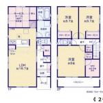 新潟市秋葉区金沢町の新築住宅の間取り図