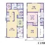 新潟市中央区桜木町の新築住宅の間取り図