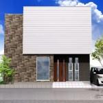 新潟市東区東中野山土地の建物プラン例1の外観パース