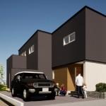 三条市上須頃の土地の建物プラン例1の外観パース
