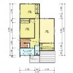 新発田市西園町1丁目の土地の建物プラン例(2階間取図)