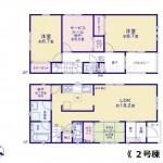新潟市西区鳥原の新築住宅の間取図
