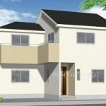 新潟市中央区姥ケ山の新築住宅の外観完成予定パース