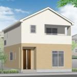 新潟市東区山木戸の新築住宅の外観完成予定パース
