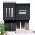 新潟市東区東中野山土地の建物プラン例の外観パース