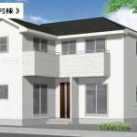 新潟市東区幸栄の新築住宅の外観完成予定パース