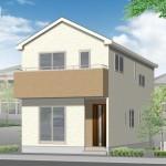 新潟市中央区桜木町の新築住宅の外観完成予定パース