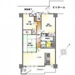 新発田市緑町の中古マンションの間取り図