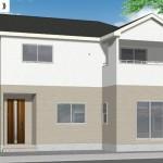 新潟市東区逢谷内2号棟の新築住宅の外観完成予定パース