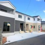 新潟市東区逢谷内の新築住宅の外観写真