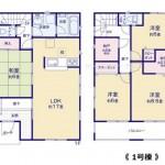 新発田市住吉町の新築住宅の間取り図