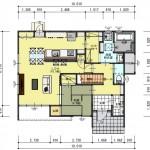 新潟市東区秋葉通の建物プランの1階間取図