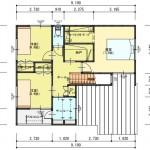 新潟市東区秋葉通の建物プランの2階間取図