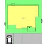 新潟市東区秋葉通の建物プランの配置図