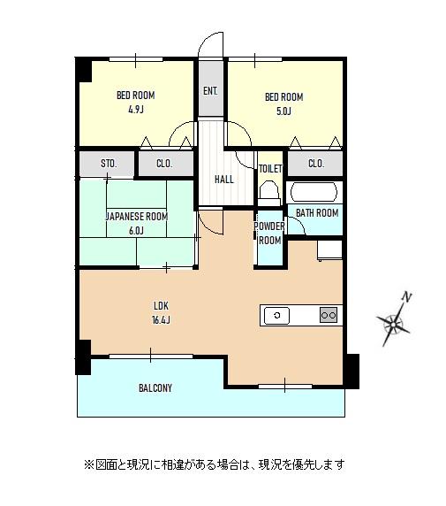 三条市東三条の中古マンションの間取図(間取)