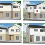新潟市江南区袋津の新築住宅の外観完成予定パース