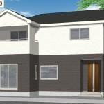 新潟市東区逢谷内1号棟の新築住宅の外観完成予定パース
