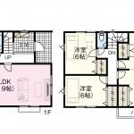 新潟市西区西小針の【新築住宅】不動産情報2号棟間取図
