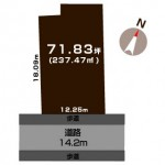 新潟市東区秋葉通の土地の敷地図