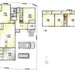 新潟市江南区亀田神明の新築住宅の間取り図
