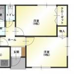 新発田市大栄町の中古住宅の間取り図