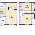 新潟市中央区出来島の新築住宅の間取り図