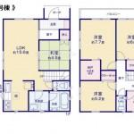 新潟市東区物見山の【新築住宅】区画1の住宅プラン例(間取図)