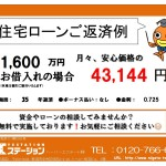 新潟市北区嘉山の中古住宅の住宅ローン返済例