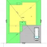 燕市新生町の土地の建物プラン例の配置図