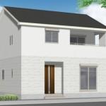 新潟市中央区出来島の新築住宅の外観完成予定パース