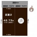 新潟市中央区和合町の土地の敷地図