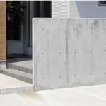 外構デザインセットプラン③】デザインゲート:プライバシーを守る門塀(白を基調とした、ソトとナカの境界。デザイン性を保ちながらプライバシーを確保する、エクステリアのアクセントに。
