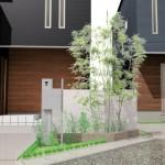 リーズン金巻コートタウンには、「サインポスト」「シンボルツリー」「デザインゲート」の3つの外構デザインセットが各世帯についています。スタイリッシュなデザインと、美しい式の彩をお楽しみください♪