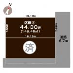 新潟市東区粟山の【土地】不動産情報の敷地図