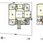 新潟市北区嘉山の中古住宅の間取図