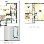 新潟市東区寺山3丁目の中古住宅の間取図
