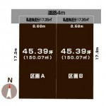 新発田市住吉町の【土地】不動産情報の敷地図