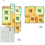 三条市三柳の中古住宅の間取図(間取)