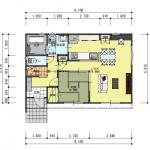 新潟市西区五十嵐2の町の建物プラン例の1階間取図②