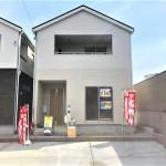 新潟市東区東明の新築住宅の2号棟外観写真