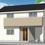新潟市江南区西町の新築住宅の外観完成予定パース